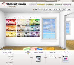 Glidden Color Palette interactive
