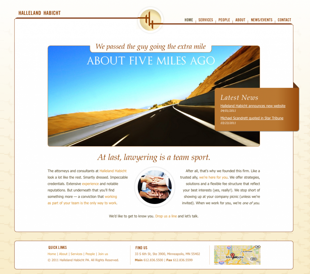 Halleland Habicht website design by Mix Creative