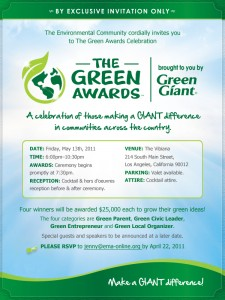 The Green Awards Email Invitation