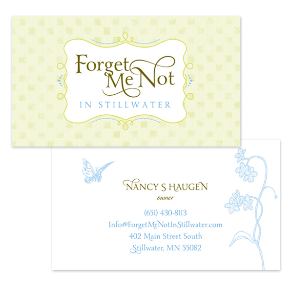 Forget Me Not Business Cards