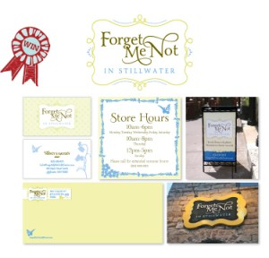 Forget Me Not in Stillwater award-winning logo and corporate branding by Mix Creative