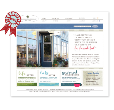 Williams Company Store award-winning website design by Mix Creative
