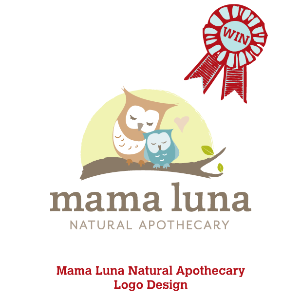 Graphic Design USA 2013 Award of Excellence for Mama Luna logo.